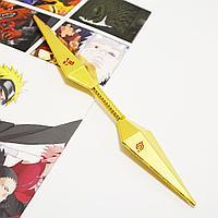 Игрушечное оружие Наруто кунай двухсторонний цвет золото