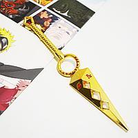 Игрушечное оружие Наруто кунай с ручкой цвет золото