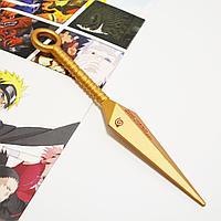 Игрушечное оружие Наруто кунай с ручкой цвет медь