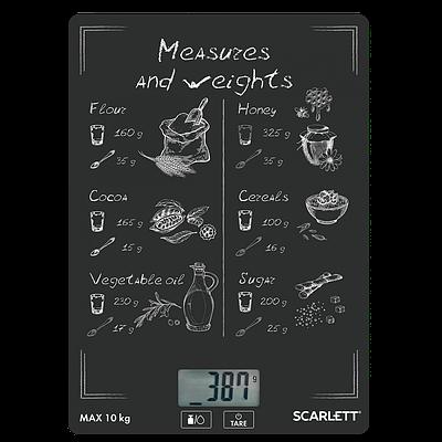 Кухонные весы Scarlett SC-KS57P64 черный