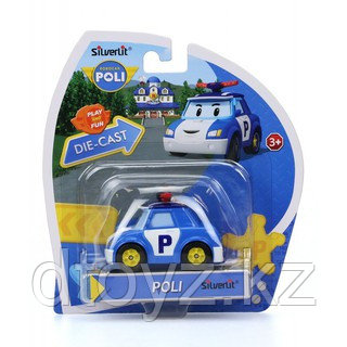 Poli Robocar , Полицейская машинка Поли (серия - металлическая, 6 см), 83162
