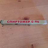 Спиртометр-ареометр 0-96` Длина 17.5 см., фото 2