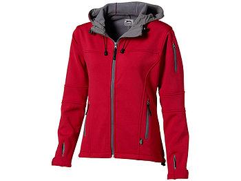 Куртка софтшел Match женская, красный/серый
