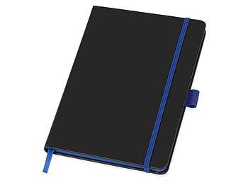 Блокнот Color edge A5, черный/ярко-синий
