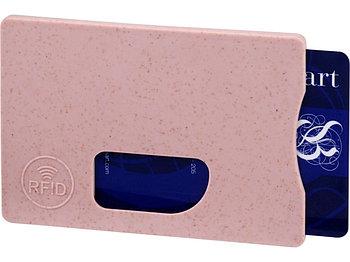 Чехол для карт RFID Straw, розовый