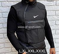 Жилетка (безрукавка) Nike весна - осень, черная