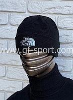 Шапка The North Face черная с белым логотипом