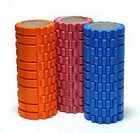 Роллер массажный (Grid Roller) для занятий йогой, пилатесом, фитнесом (d-14см,l-33,5см)