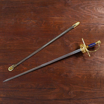 Сувенирная шпага Дон Кихот Ламанчский, роспись на клинке, 100 см
