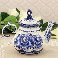 Чайник «Анемон», 10×18×15 см, гжель
