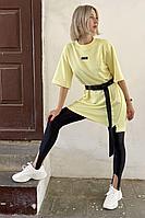 Женское летнее трикотажное желтое спортивное платье Faldas ФС-19.164 светло-жёлтый 42р.