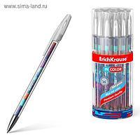Ручка гелевая ErichKrause Patchwork 0,5 мм, синий стержень с рисунком