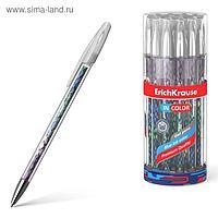 Ручка гелевая ErichKrause Purple Python 0,5 мм, синий стержень с рисунком