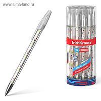 """Ручка гелевая ErichKrause Flower Cocktai"""" 0,5 мм, синий стержень с рисунком"""