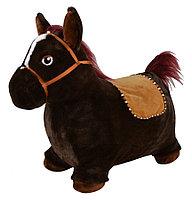PITUSO Прыгуны-животные Лошадка, PVC+съемный плюш.чехол,с насосом, муз.,57*27*50см, Черный