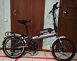 "Электровелосипед складной, (передний привод),  36v 350w, аккум. Li-ion 36v 19,2 A/H. Колеса 20""., фото 3"