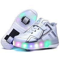 Роликовые кроссовки на 2-х роликах с подсветкой