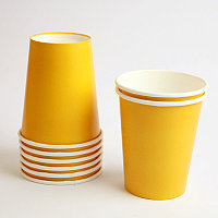 Желтый бумажный стакан 350 мл
