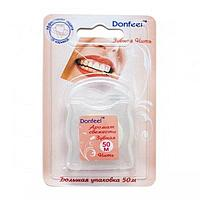 Зубная нить Donfeel UF-623 аромат сладкая мята, 50 метров