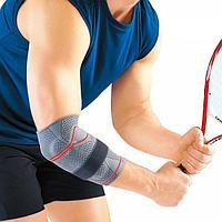 Бандаж локтевой Orlett energy line DEL-104 для уменьшения отечности и фиксации сухожилий мышц руки