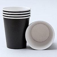 Бумажный стакан черный 350 мл