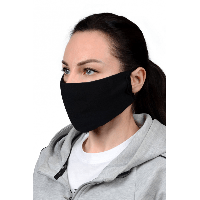 Маска защитная, гигиеническая для лица из МИКРОФИБРЫ с МЕДНОЙ нитью, двухслойная, многоразовая