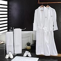 Махровый белый халат для хостелов и гостиниц 50-52