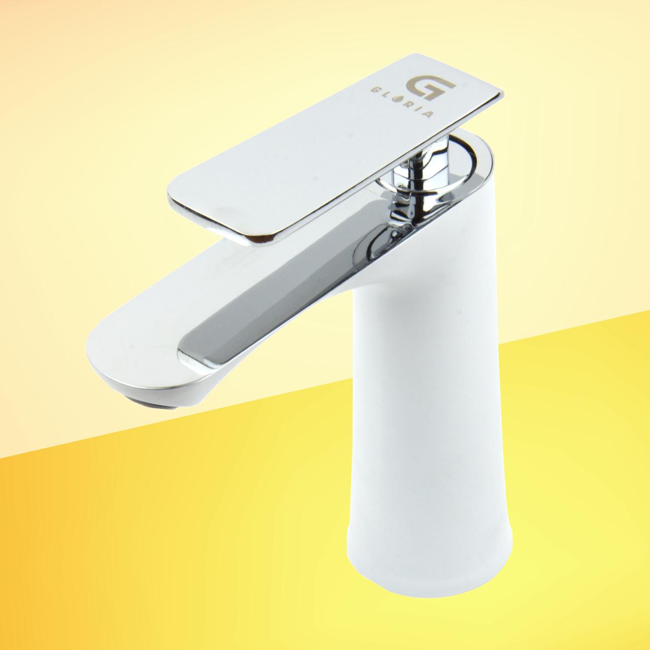 Смеситель для раковины GLORIA SmartFlow® BR014 белый/хром