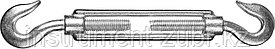 Талреп DIN 1480, крюк-крюк, М8, 10 шт, оцинкованный, STAYER