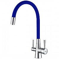 Смеситель для кухни Lemark Comfort Хром Синий ( LM3075C-Blue)