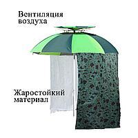 Зонт туристический для рыбалки разборный жаростойкий с чехлом Tuohai зеленый
