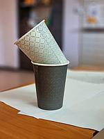 Брендированные стаканы 350 мл. под горячие напитки (однослойные)