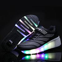 Роликовые кроссовки Aimoge LED Light Black