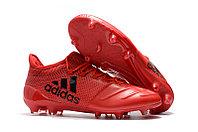Футбольные бутсы Adidas X 17.1 Leather FG Red/Black 39-43