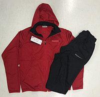 Костюм спортивный мужской Reebok с капюшоном красный/черный