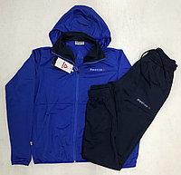 Костюм спортивный мужской Reebok с капюшоном голубой/черный