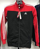 Костюм спортивный мужской Adidas черный-красный/черный