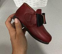 Ботинки для девочки с бантом размеры 21-25