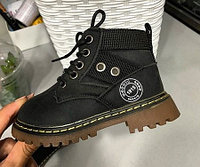 Ботинки (тимбы) черные унисекс размеры 21-25