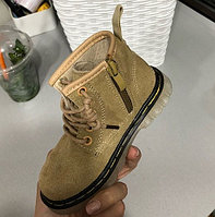 Ботинки (тимбы) на молнии хаки унисекс размеры 21-25