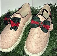 Туфли для девочки с бантами Gucci размеры 21-26