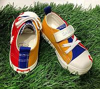 Кеды детские шнуровка/липучки размеры 21-25