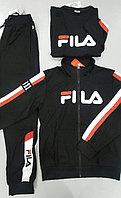 Спортивный мужской костюм-тройка Fila черный