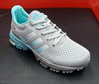 Кроссовки беговые Adidas Marathon TR серый/голубой