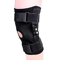 Бандаж на колено фиксирующий Sibote SB8136 (с 2-мя металлическими шарнирами)