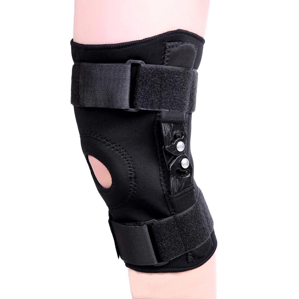 Бандаж на колено фиксирующий Sibote SB8136 (с 2-мя металлическими шарнирами) - фото 1