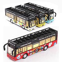 Игрушечный транспорт двухярусный автобус 1:36 18 см