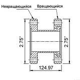"""Патрубок с фланцами (ниппель) CF35/40 (CF2,75"""") длиной 124,97 мм, нержавеющая сталь 304, фото 3"""