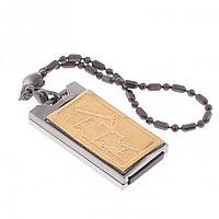 "Флешка с гравировкой ""Подарок нефтянику"" Златоуст USB 2.0 32 Gb упаковка футляр флок"