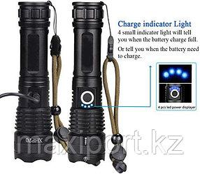 Мощный тактический фонарь HXP70 Влагозащищенный 35W (уценка)